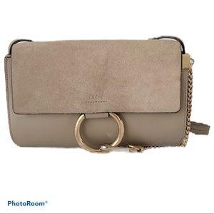 🌸CHLOÉ Faye Small Shoulder Bag Motty Grey🌸